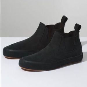 Vans slip on mid suede podium black sneaker shoes